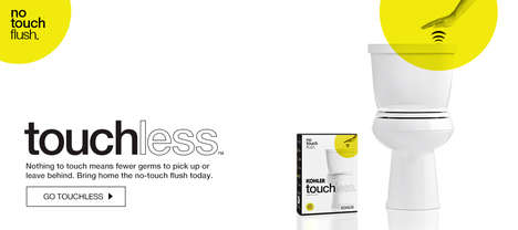 Touchless Toilet Flushers - The Kohler Touchless Toilet Uses Hand Sensors to Flush