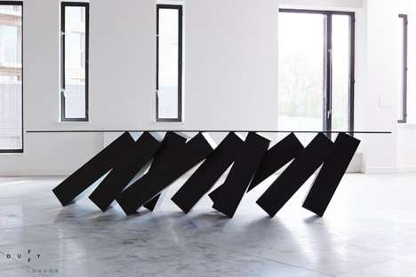 Dominoes-Like Furniture - The Monolith Table by Christopher Duffy is Inspired by a Sci-Fi Film