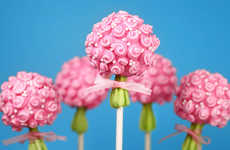Cake Pop Bouquets - These Cake Pop Treats are Shaped Like Flower Bouquets