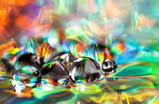 Macro Water Droplet Photography - The Shawn Knol Images of Water Depict Color, Texture and Shape