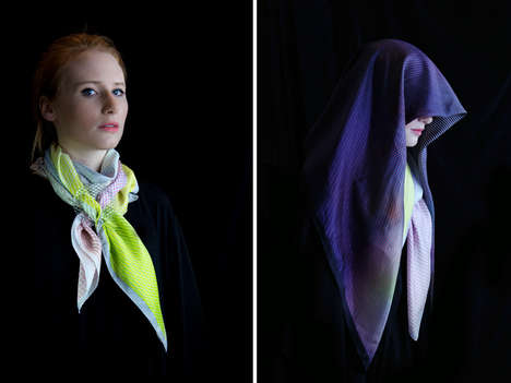 Glass-Integrated Scarves -