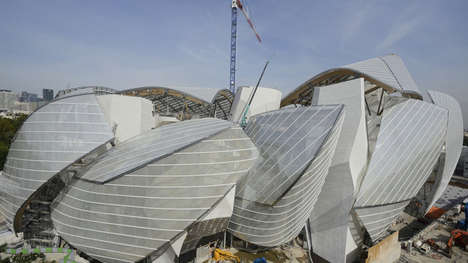 Curved Cultural Centers - Fondation Louis Vuitton by Frank Gehry Takes Historic Inspiration