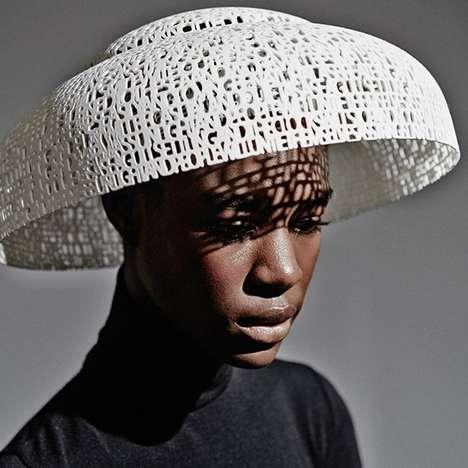 Sculptural 3D Print Accessories - The Gabriela Ligenza Capsule Collection Displays Sculptural Hats