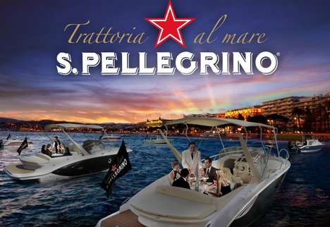 Floating Pop-Up Restaurants - S.Pellegrino's Pop-Ups Will be Part of the Cannes Film Festival Events