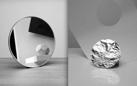 Abstract Monochromatic Still Life - The Conquest of Materials by Benjamin Swanson is a Bit Haunting