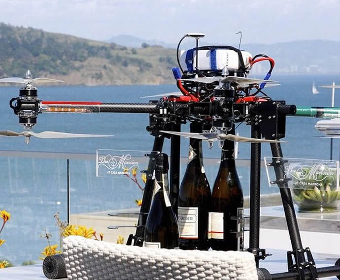 Champagne Delivery Drones