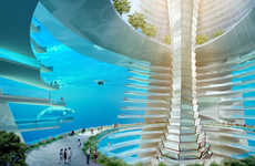 Floating Ocean Metropolises - This Floating City Concept is Entirely Self-Sufficient