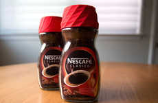 Coffee Container Clocks - The Nescafe Alarm Cap is a 3D Printed Jar Lid and Functioning Alarm Clock