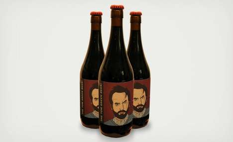 Comedian Brew Brandings - The Tom Green Beer is a Milk Stout Inspired Crafted by the Canadian Actor