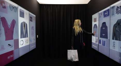 Retail Recommending Booths - Inspiration Corridor Offers Fashion Suggestions and Helps Locate Items