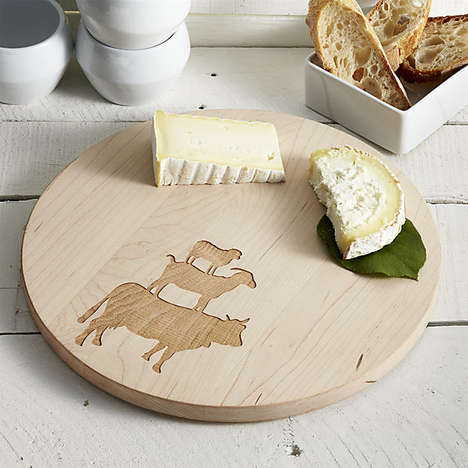 Crafty Farmhouse Kitchen Accessories - The Round Wood Cheese Board by BROOKLYNrehab