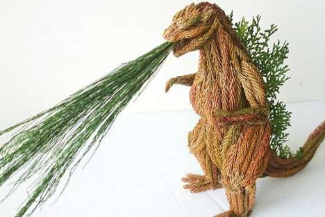 Leafy Monster Sculptures - Li Yi-kai