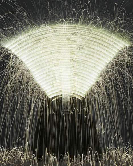 Spectacular Science-Based Art - The New Work of Caleb Charland Focuses on Light and Fire