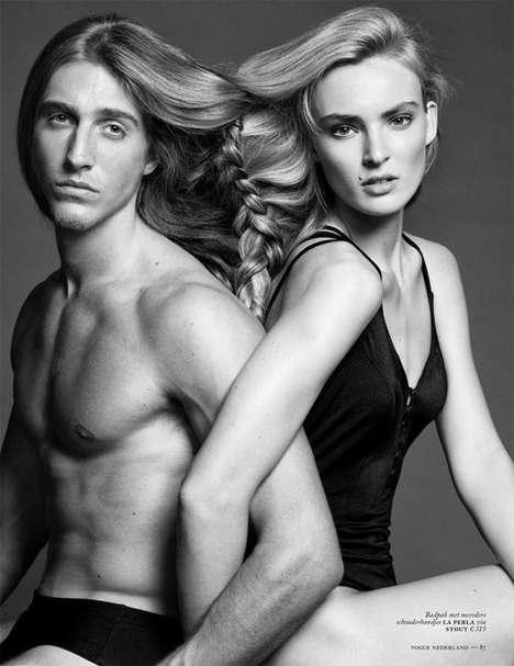 Blonde Power Couple Editorials - Ymre Stiekema and Jorge Pla Star in Vogue Netherlands
