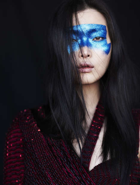 Absurdly Fun Makeup Editorials - The Vogue Italia May 2014 Issue Gets Creative With Makeup