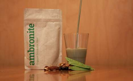 Healthful Meal Replacement Drinks - Superfood-Loaded Ambronite Packs Are Equivalent to a Full Meal