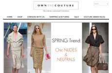 Couture Consignment Sites - The Own The Couture Online Platform Offers Recycled High End Apparel