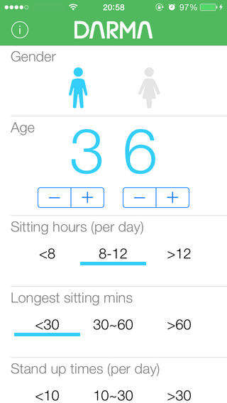 Stationary Health-Monitoring Apps - The Darma App Notes Posture and Heart Rate While Sitting