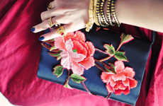 Embroidered Handbag Tutorials - This DIY Floral Clutch is Perfect for Budget-Conscious Fashionistas