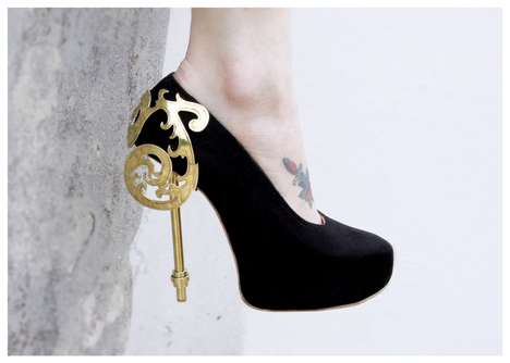 Elegant Victorian Stilettos - These Rosanna Gault Shoe Designs Embody a Feeling of Opulence
