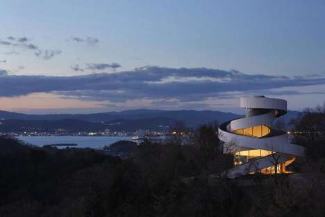 Curvaceously Stripped Churches - The Ribbon Chapel by Hiroshi Nakamura is Modern and Minimalist