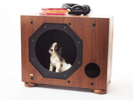 Sound System Animal Abodes - This Vintage Subwoofer Pet House from Etsy Repurposes Old Technology