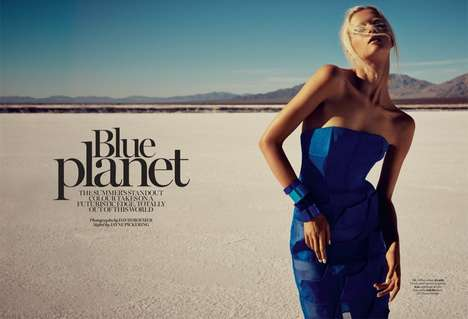 Blue-Inspired Editorials - The Marie Claire UK