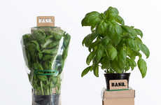 Self-Watering Packaging Designs - Duncan Anderson Designs a Package to keep Herbs Fresh