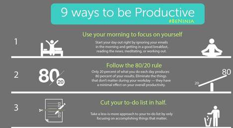 Productivity-Boosting Infographics - This Infographic Depicts '9 Ways to Be Productive'
