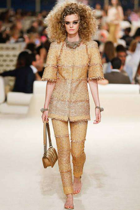 Modern 19th Century Couture - The Chanel Resort 2015 Collection is a Nod to Oriental Inspirations