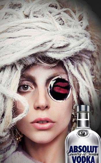 Celeb-Endorsed Social Media Contests - The Absolut x Lady Gaga Collaboration Allows Fans to Win Big