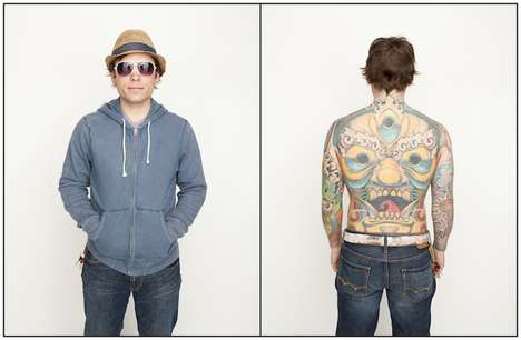 Hidden Tattoo Photography - Spencer Kovats Captures Covered Up Body Art