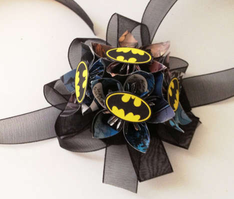 Comic Book Corsages - These Prom Batman Corsages Commemorate the Batman vs. Superman 2016 Film
