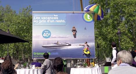 Live Travel Billboards - The Takeoff by Transavia Makes Its Advertisement Absolutely Unmissable