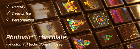 Holographic Printed Chocolates - Morphotonix