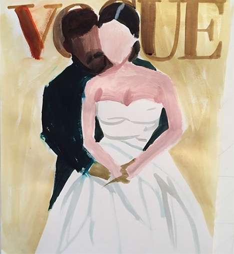 Infamous Cover-Story Art Works - The Kimye Vogue Cover Gets Transformed into a Watercolor Portrait