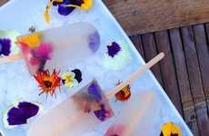 Boozy Botanical Popsicles - These Edible Flower Popsicles are Made With Elderflower Liqueur