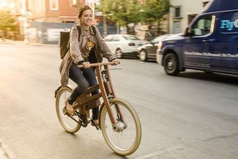 Electrical Wooden Bicycles - Bough Bikes Has Created the World