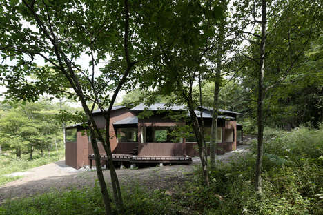 Angled Weekend Retreat Cabins - ON Design Creates the Ideal Getaway in Japan