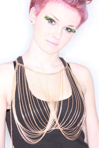 Egyptian-Inspired Body Adornments - The Cleopatra Body Chain from Emotive Apparel Embodies Opulence