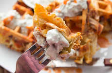 Spicy Poultry Waffles - This Buffalo Chicken Recipe will Spice Up Your Morning Routine