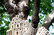 Architectural Bird House Installations