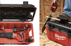 Portable Bench Toolbox - The Milwaukee Work Box Stores Your Tools and Gives You a Place to Sit