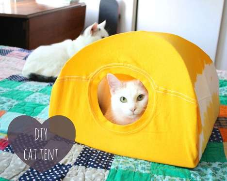 Upcycled Feline Beds - These Cute Cat Tents are Made from Old T-Shirts