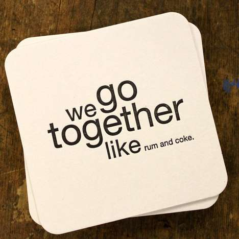 Silly Simile Coasters - These Funny Beverage Coasters Finish the Phrase