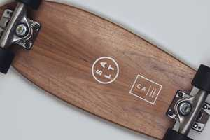 These Salt Surf Skateboards are Made of Multiple Layers of Wood
