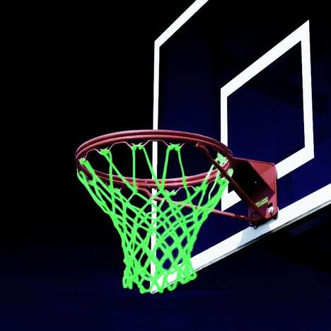 Illuminating Sport Nets - These Nets Make Playing B-Ball a Glow-in-the-Dark Event