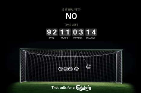 Sports Countdown Sites - Carlsberg Counts Down with Fans Who Are Wondering: Is It BPL Yet?