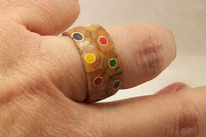 This Ring is Made Out of a Grouping of Sculpted Pencil Crayons