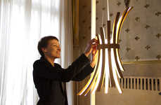 Shape-Changing Light Fixtures - The Filo Lamp by Laura Modoni is Full of Different Expressions